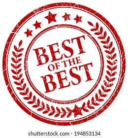 Best of the best vector stamp