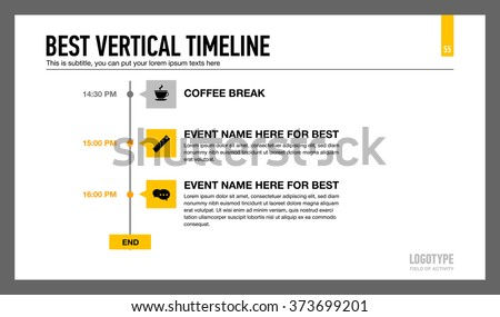 best vertical timeline template 3 stock vector royalty free