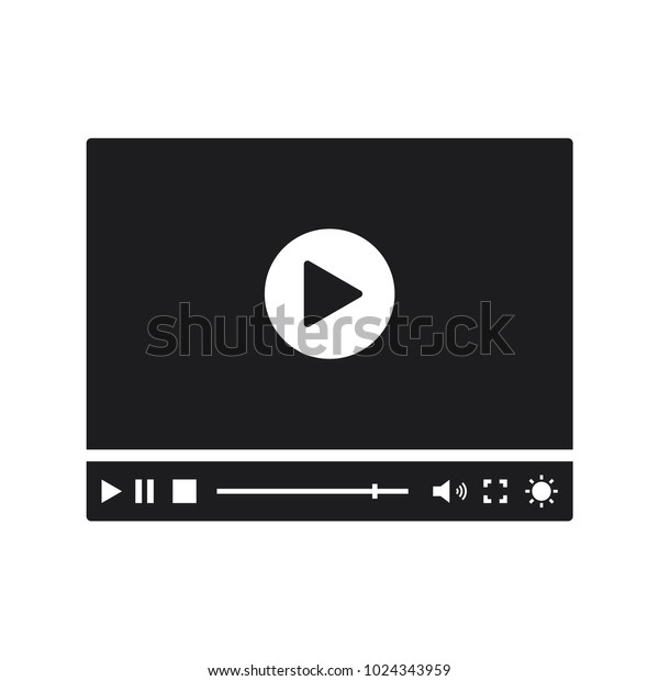 best video player interface in trendy flat style