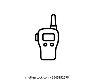 best walkie talkie outline icon. linear style sign for mobile concept and web design. Radio transceiver simple line vector icon. Symbol, logo illustration. Pixel perfect vector graphics - Vector
