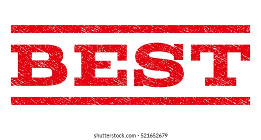 Best watermark stamp. Text tag between horizontal parallel lines with grunge design style. Rubber seal red stamp with unclean texture. Vector ink imprint on a white background.