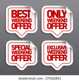 Best weekend offer speech bubbles