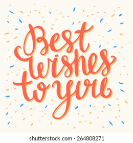 Best Wishes card.