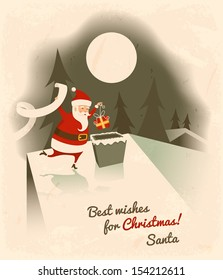 Best wishes for Christmas. Vector illustration.