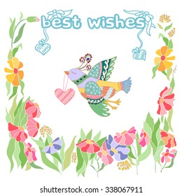 Best wishes Greeting card.