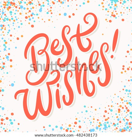 Best wishes greeting card stock vector royalty free 482438173 best wishes greeting card m4hsunfo