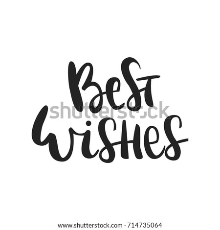 Best Wishes Hand Drawn Christmas Lettering Stock Vector (Royalty ...