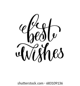 best wishes hand lettering inscription to winter holiday greeting card, Christmas banner calligraphy text quote, vector illustration