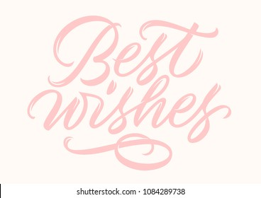 best wishes, handwritten text, calligraphy, lettering
