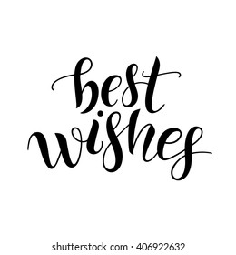Best wishes. Lettering