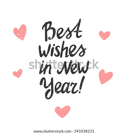 Best Wishes New Year Vector Typography Stock Vector (Royalty Free ...
