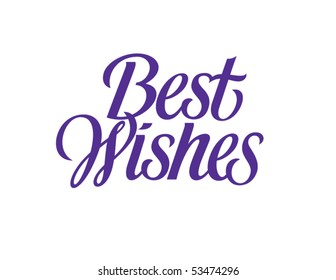 Best Wishes Vector Lettering