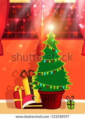 Best xmas greeting card creative tree stock vector royalty free best xmas greeting card with creative tree and colorful gift boxes with shining star and sparkling m4hsunfo
