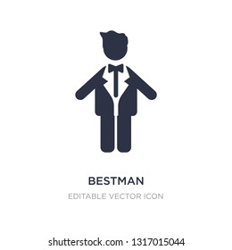 bestman icon on white background. Simple element illustration from People concept. bestman icon symbol design.
