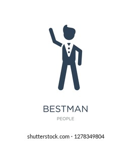 bestman icon vector on white background, bestman trendy filled icons from People collection, bestman vector illustration