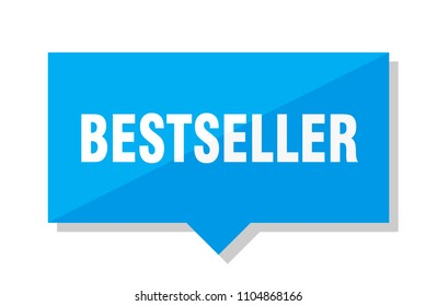 bestseller blue square price tag