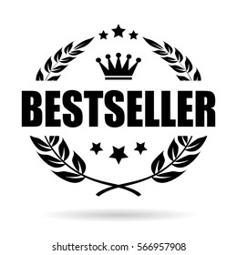 Bestseller business vector icon. Best seller award vector emblem.
