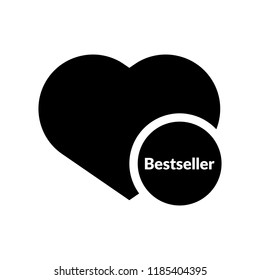 bestseller and heart icon