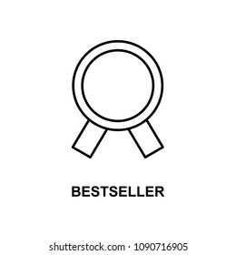 bestseller icon. Element of simple web icon with name for mobile concept and web apps. Thin line bestseller icon can be used for web and mobile on white background