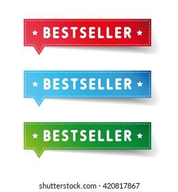 Bestseller label set vector