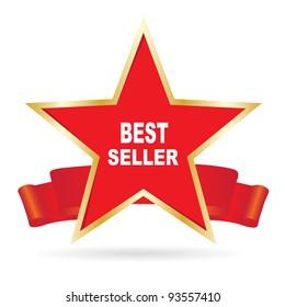 Bestseller label. Vector