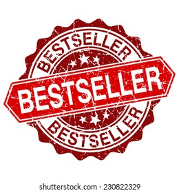 Bestseller red vintage stamp isolated on white background. bestseller stamp. bestseller. bestseller sign.