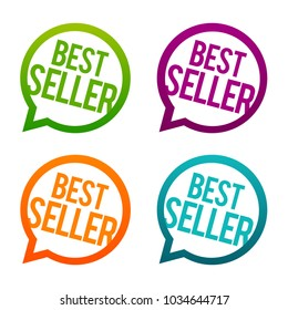 Bestseller round Buttons. Circle Eps10 Vector.
