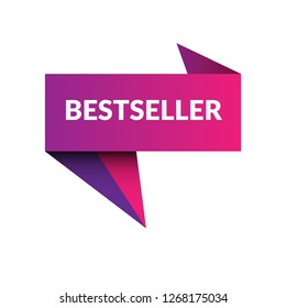 bestseller sign, emblem, label, badge,sticker. bestseller paper origami speech bubble. bestseller tag. bestseller banner. Designed for your web site design, logo, app, UI