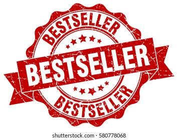 bestseller. stamp. sticker. seal. round grunge vintage ribbon bestseller sign