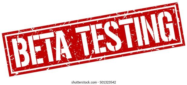 beta testing. grunge vintage beta testing square stamp. beta testing stamp.