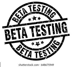 beta testing round grunge black stamp