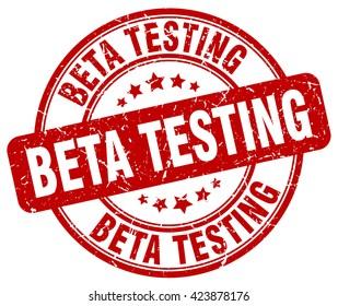 beta testing. stamp