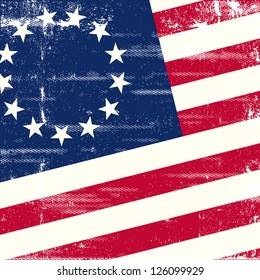 betsy ross flag. A background for a poster