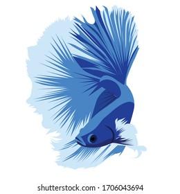 Betta Beauty HM Blue Logo Vector Design