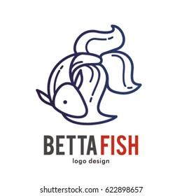 BETTA FISH LOGO ICON SYMBOL