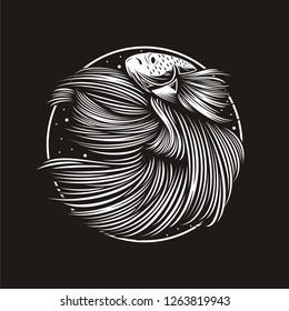 Betta Fish Vector Illustration