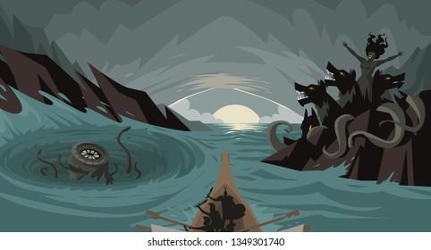 between scylla and charybdis myth