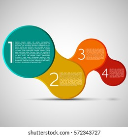 Beveled Edged Connecting Circles, Modern Design Layout | EPS10 Vector