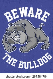 beware the bulldog poster