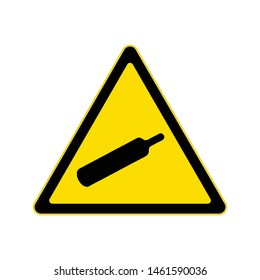 Beware compressed gas sign, Hazard warning symbol