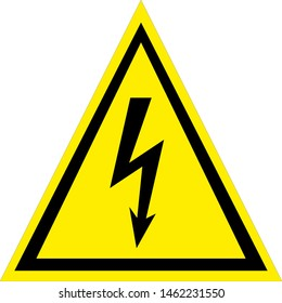 Beware Electricity Symbol Sign,Vector Illustration