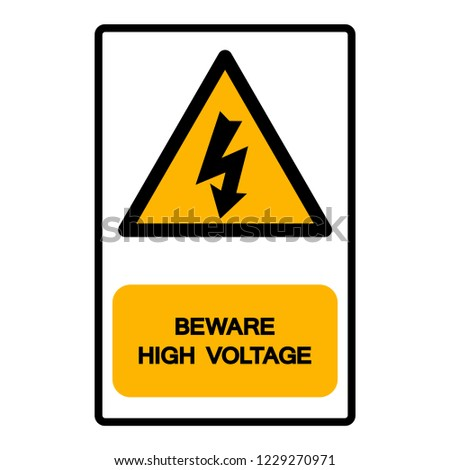 Beware High Voltage Symbol Sign Vector Stock Vector Royalty Free