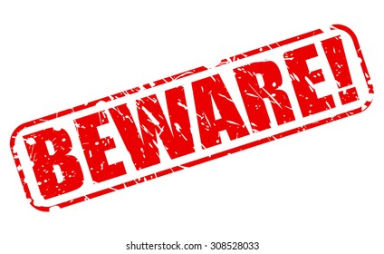 Beware red stamp text on white