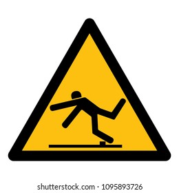 Beware Trip Hazard Symbol, Vector Illustration, Isolate White Background Icon. EPS10