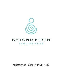 Beyond birth logo design vector