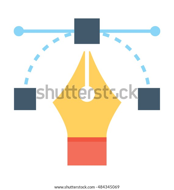 Bezier Tool Vector Icon Stock Vector (Royalty Free) 484345069