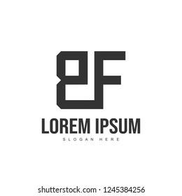 BF Letter logo design. Initial letter logo template design