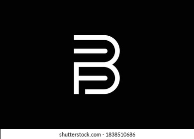 BF letter logo design on luxury background. FB monogram initials letter logo concept. BF icon design. FB elegant and Professional letter icon design on black background. B F BF FB