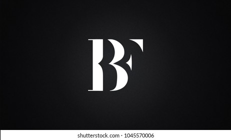 BF Letter Logo Design Template Vector