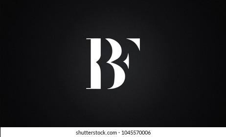 BF Letter Logo Design Template Vector